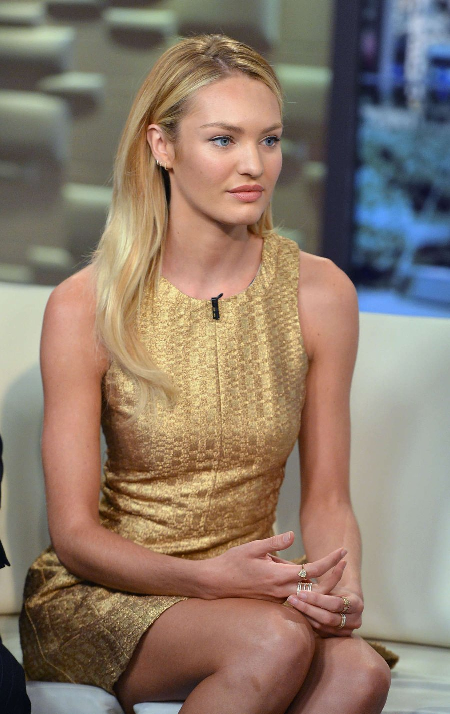 "Candice Swanepoel visits ""FOX & Friends"" in NYC"