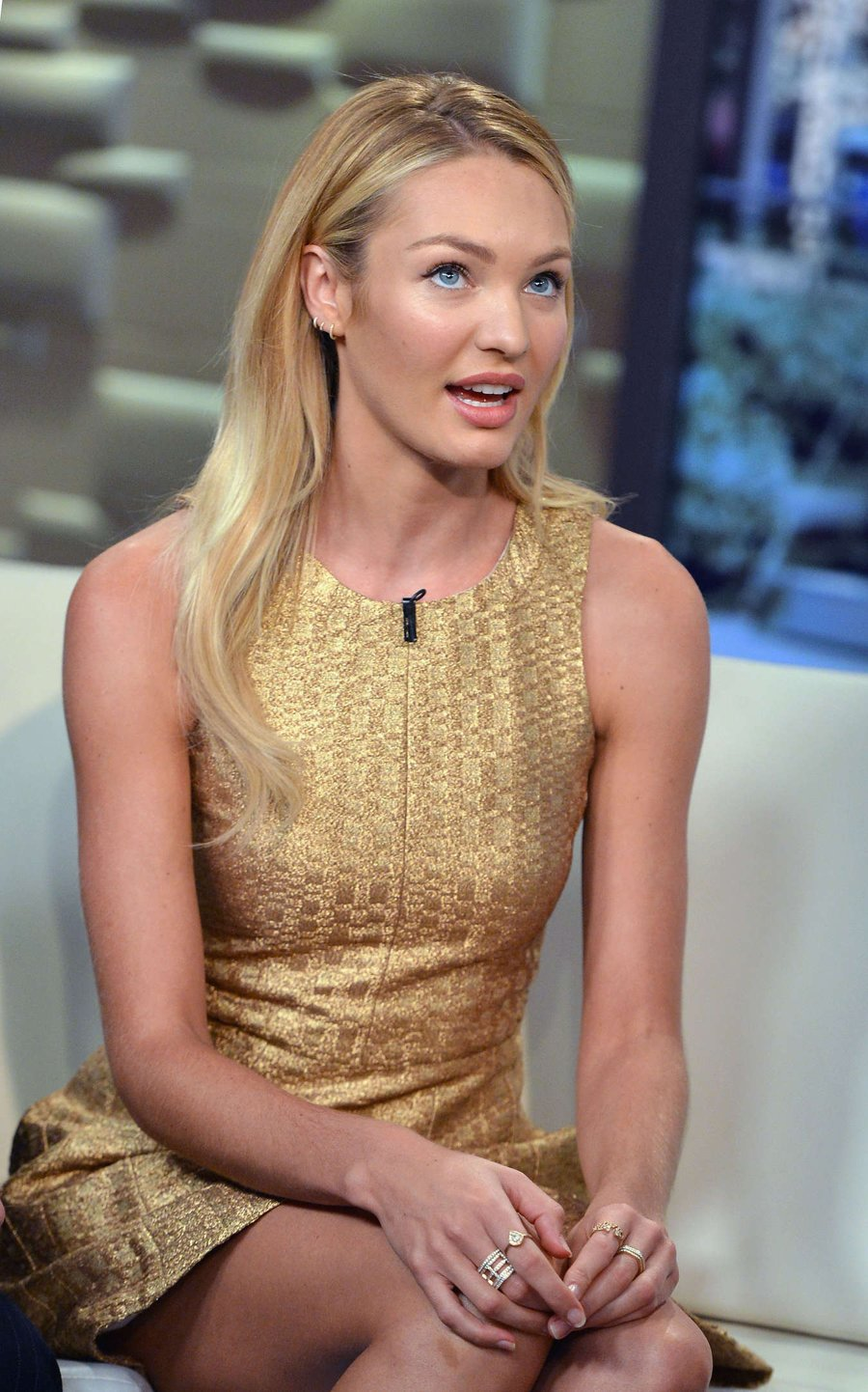 """Candice Swanepoel visits """"FOX & Friends"""" in NYC"""