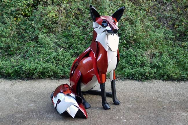 Old Car Parts Assembled Into Animals