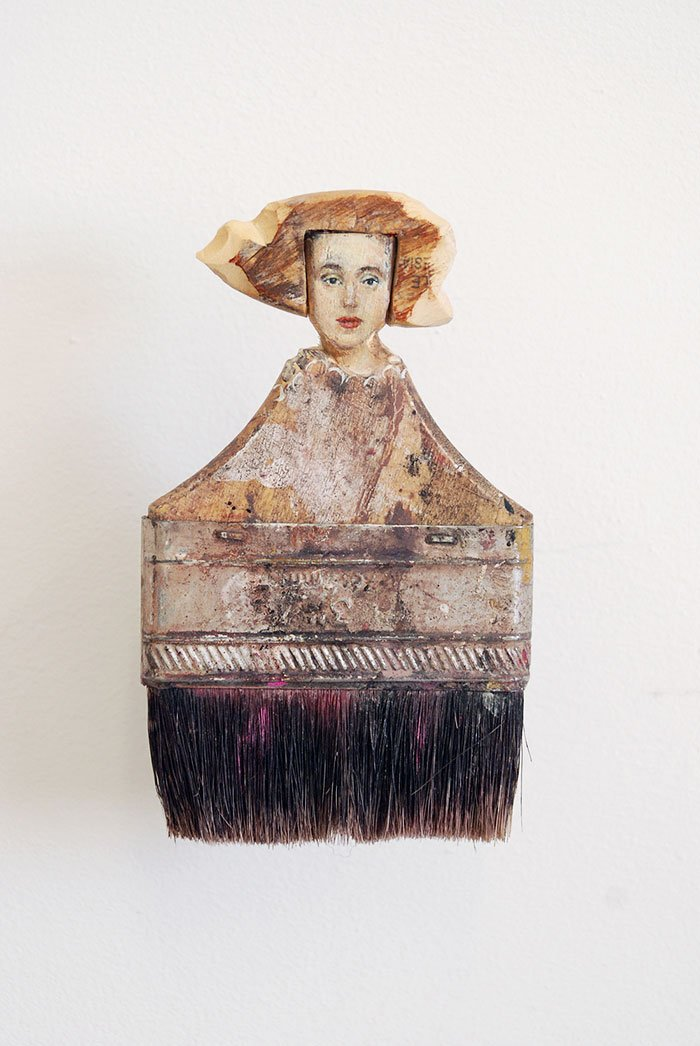 Old Paintbrushes As Delicate Ladies