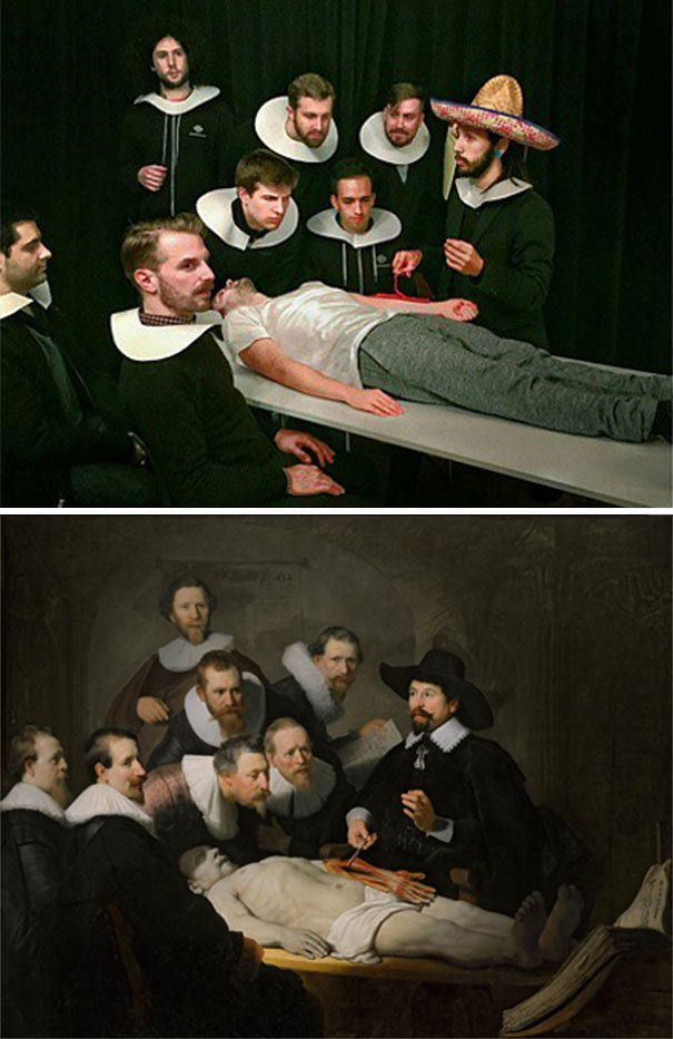 Bored Coworkers Recreate Famous Paintings