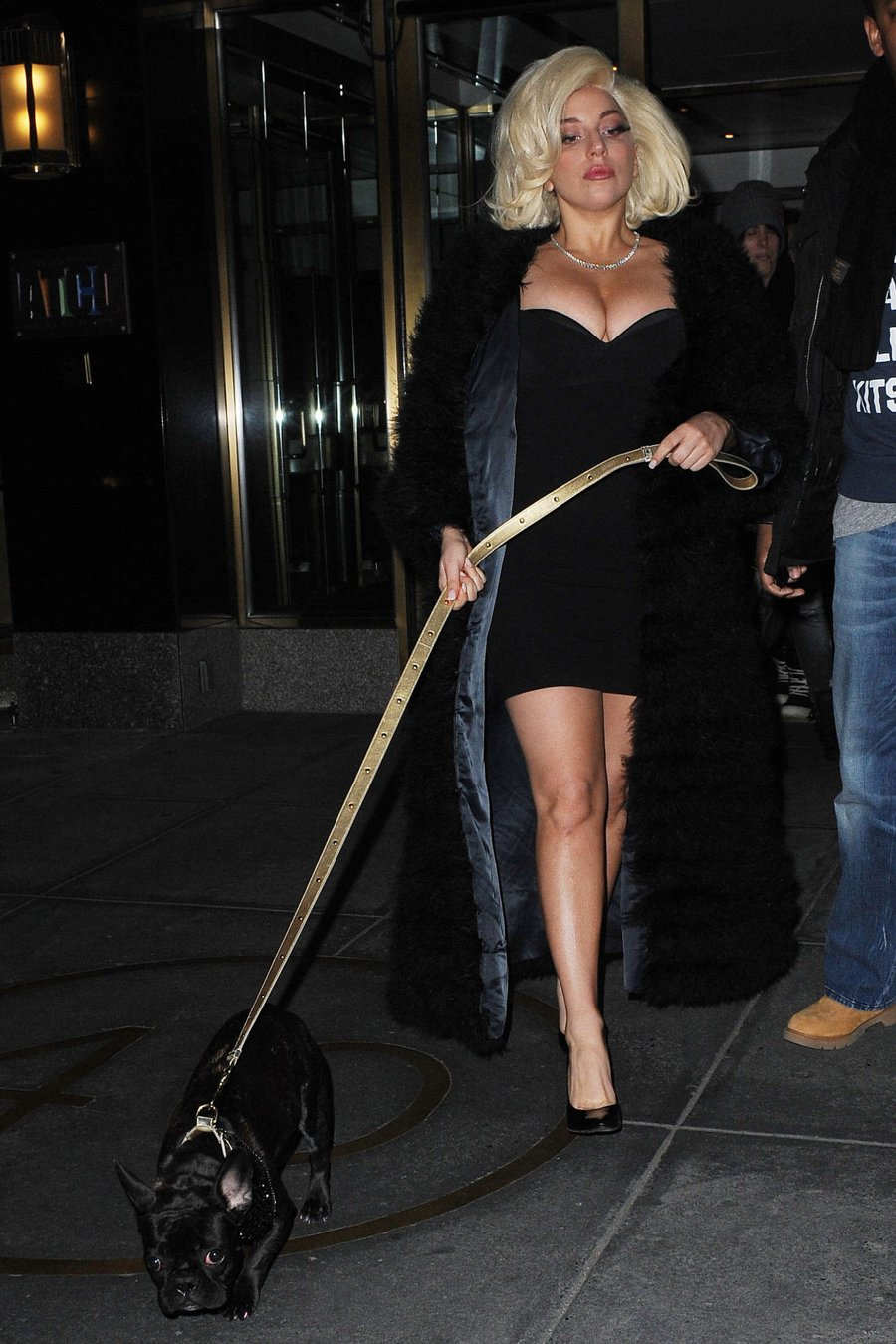 Lady Gaga in Mini Dress out in NYC