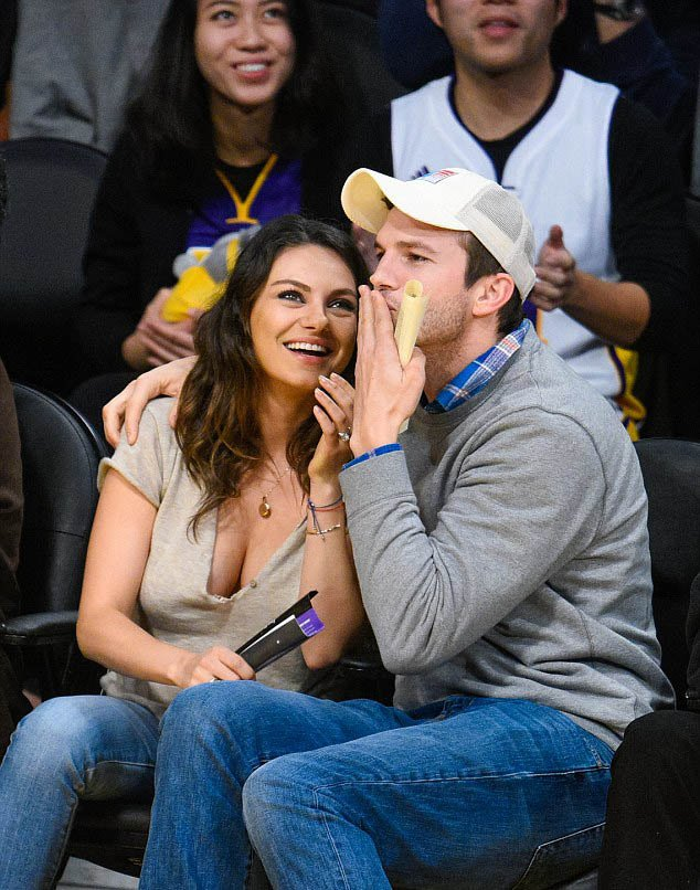 Mila Kunis at the Lakers Game in LA