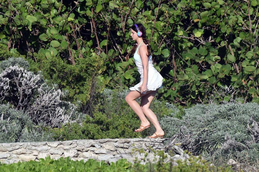 Lana Del Rey at a beach in St. Barts