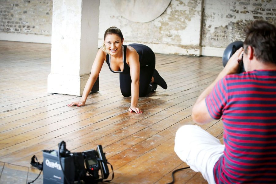 Sam Faiers - Workout Photoshoot in London