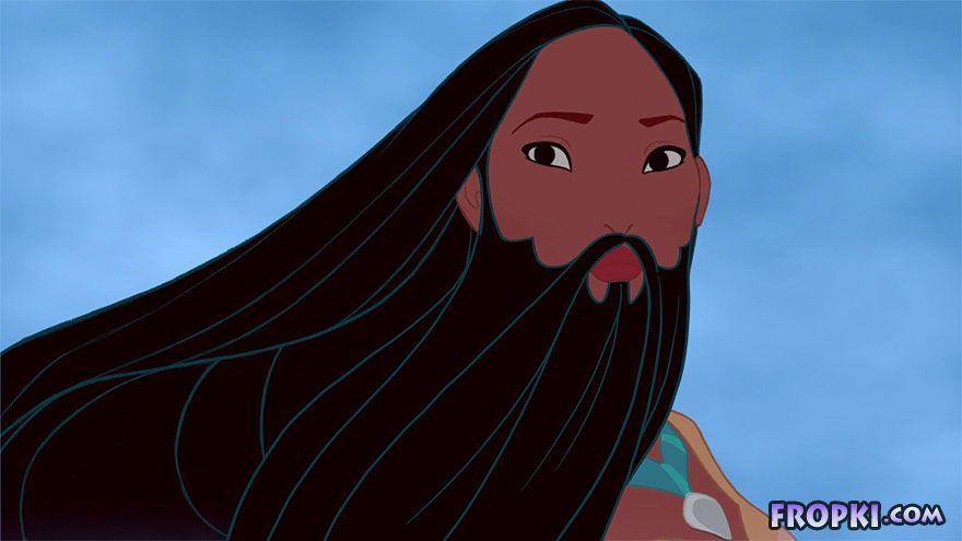 Disney Princesses with Beards