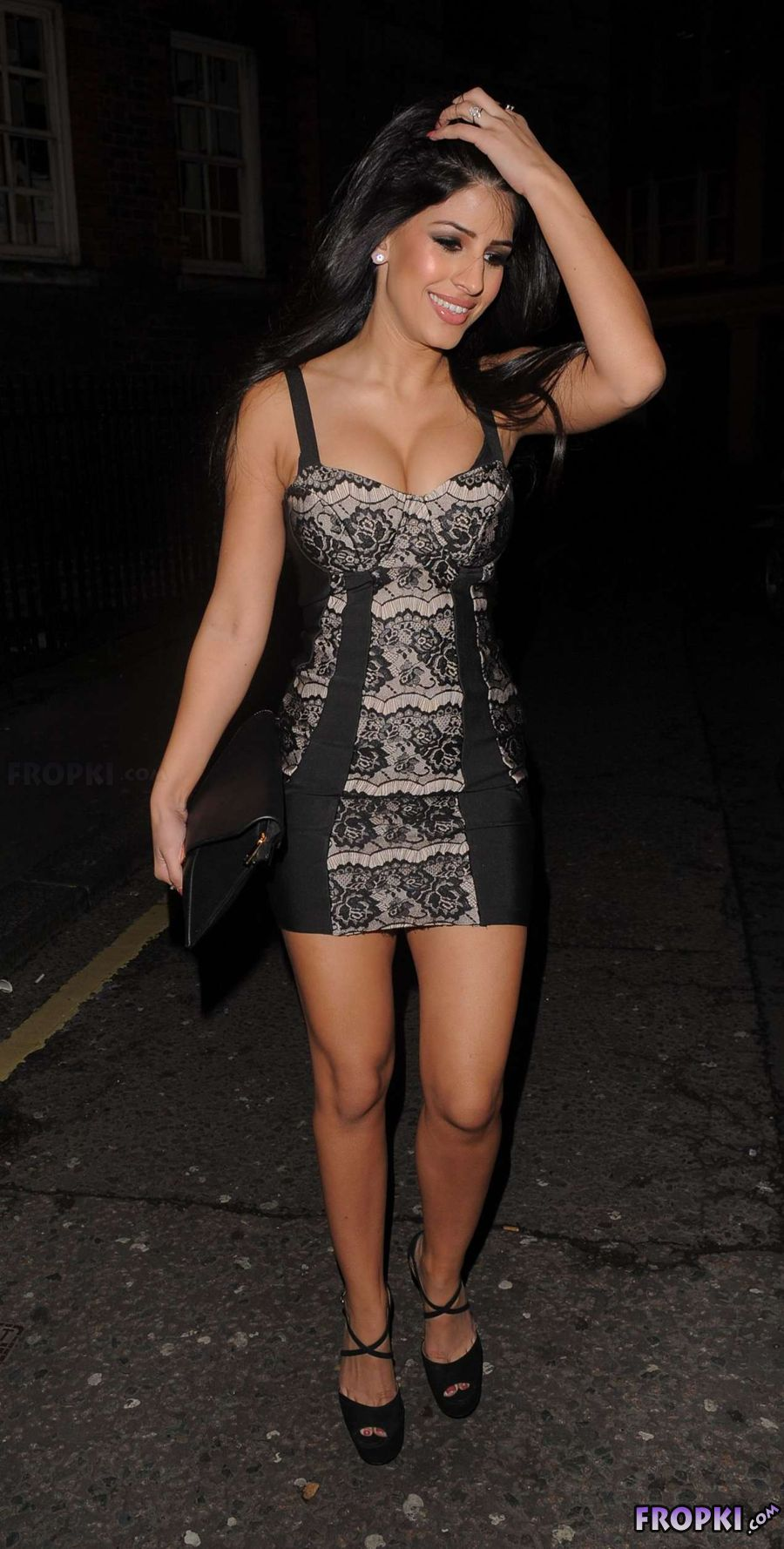 Jasmin Walia - Seen Out in a Sexy Black Dress
