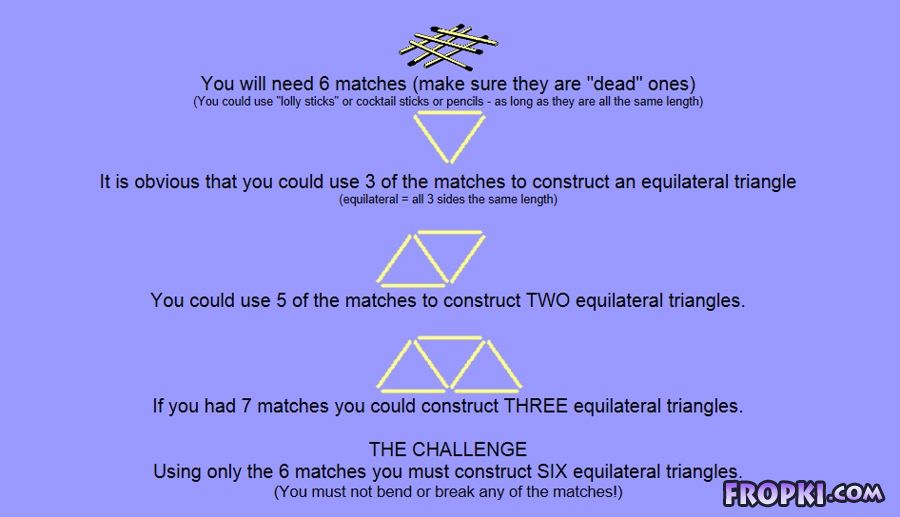 Match the Matches in a Triangle