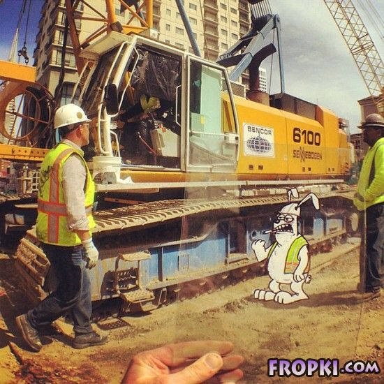 Artist Inserts Cartoons Into Real-World Situations