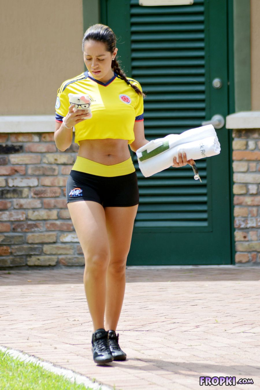 Andrea Calle - Soccer Workout in Miami