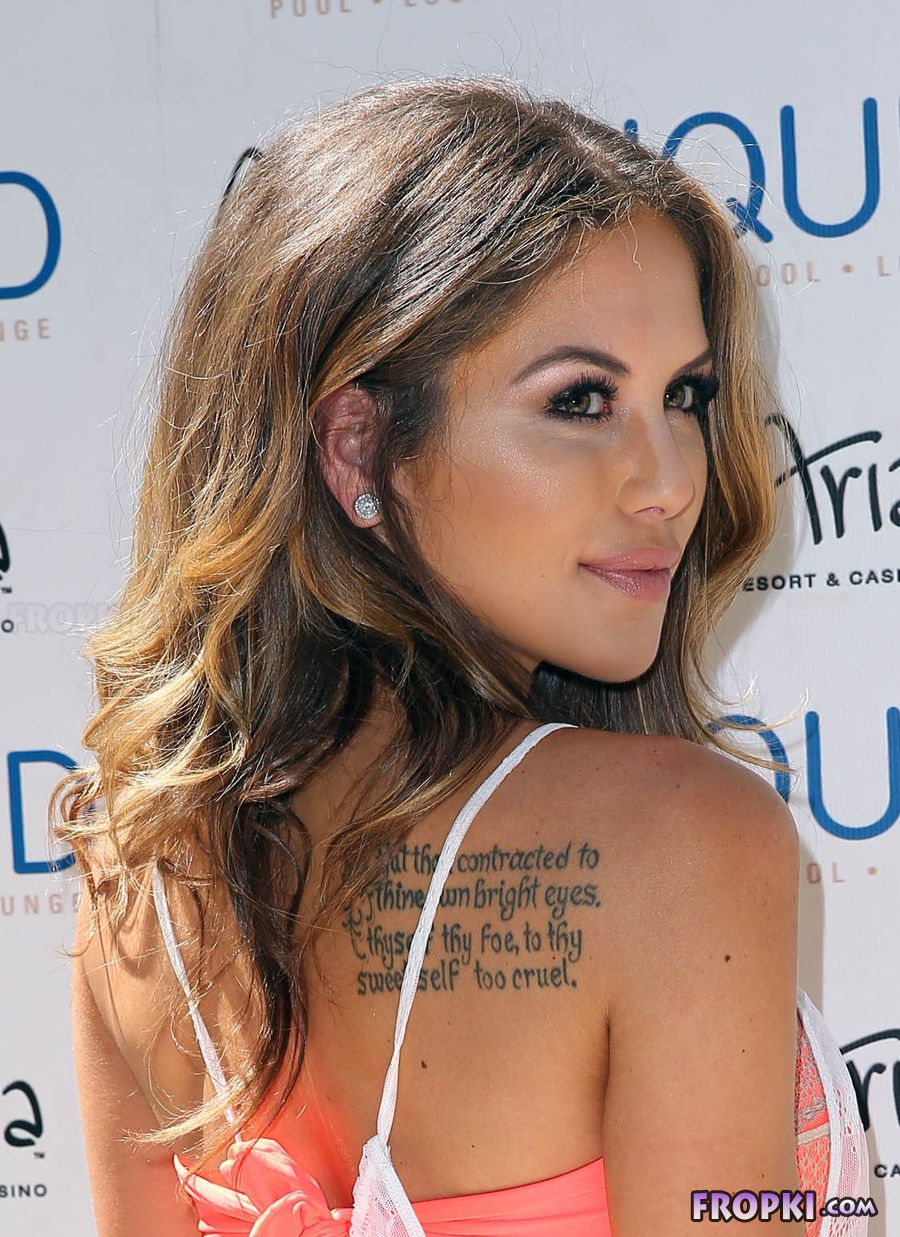 Brittney Palmer at UFC Pool Party in Vegas