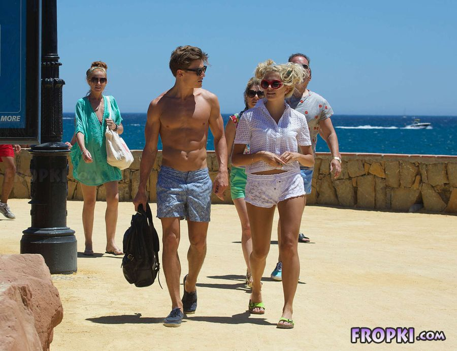 Pixie Lott on vacation in Marbella