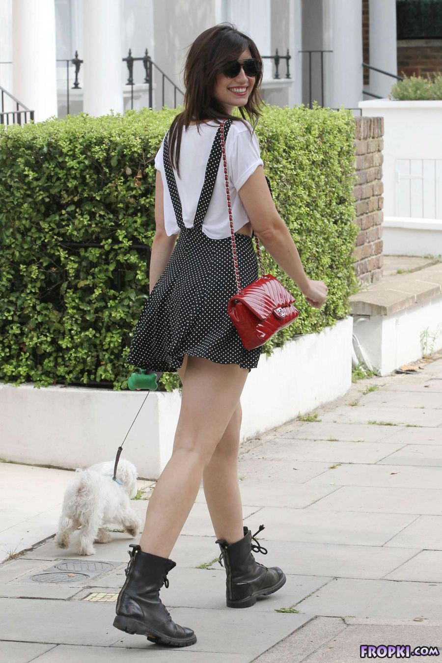 Daisy Lowe in Sexy Dress in Primrose Hill