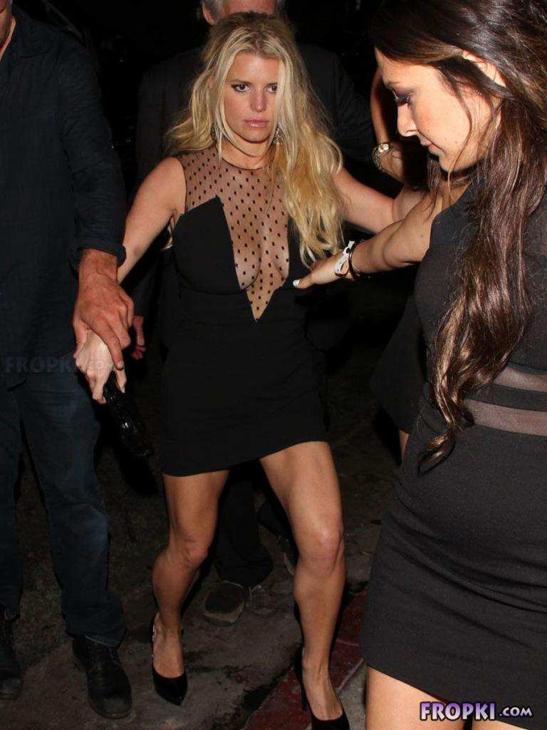 Jessica Simpson leaving a bachelorette party in L.A.