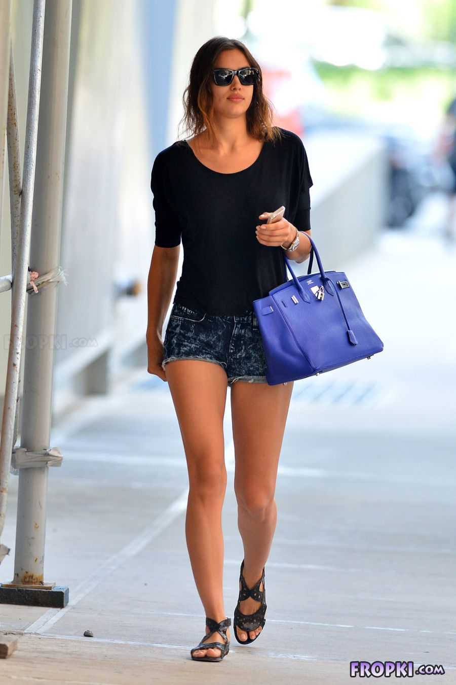 Irina Shayk out for a walk in New York