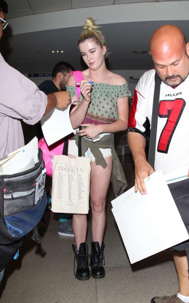 Ireland Baldwin Seen at LAX Airport in Los Angeles