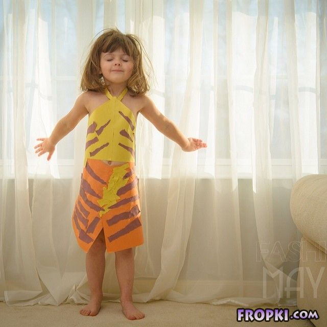 Daughter And Her Mother Create Paper Dresses