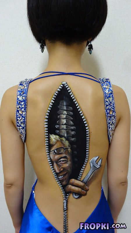 Trippy 3D Body Paintings