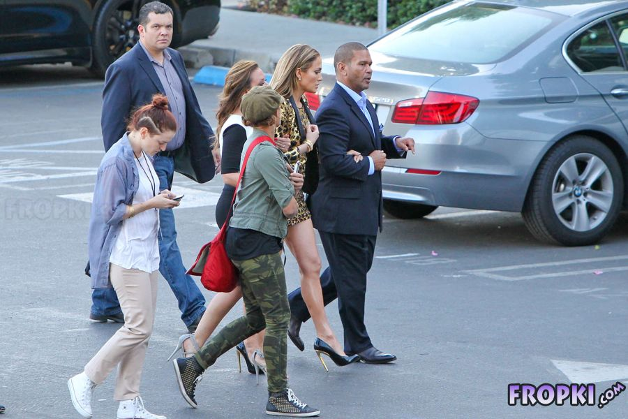 "Jennifer Lopez on ""American Idol"" Set in West Hollywood"