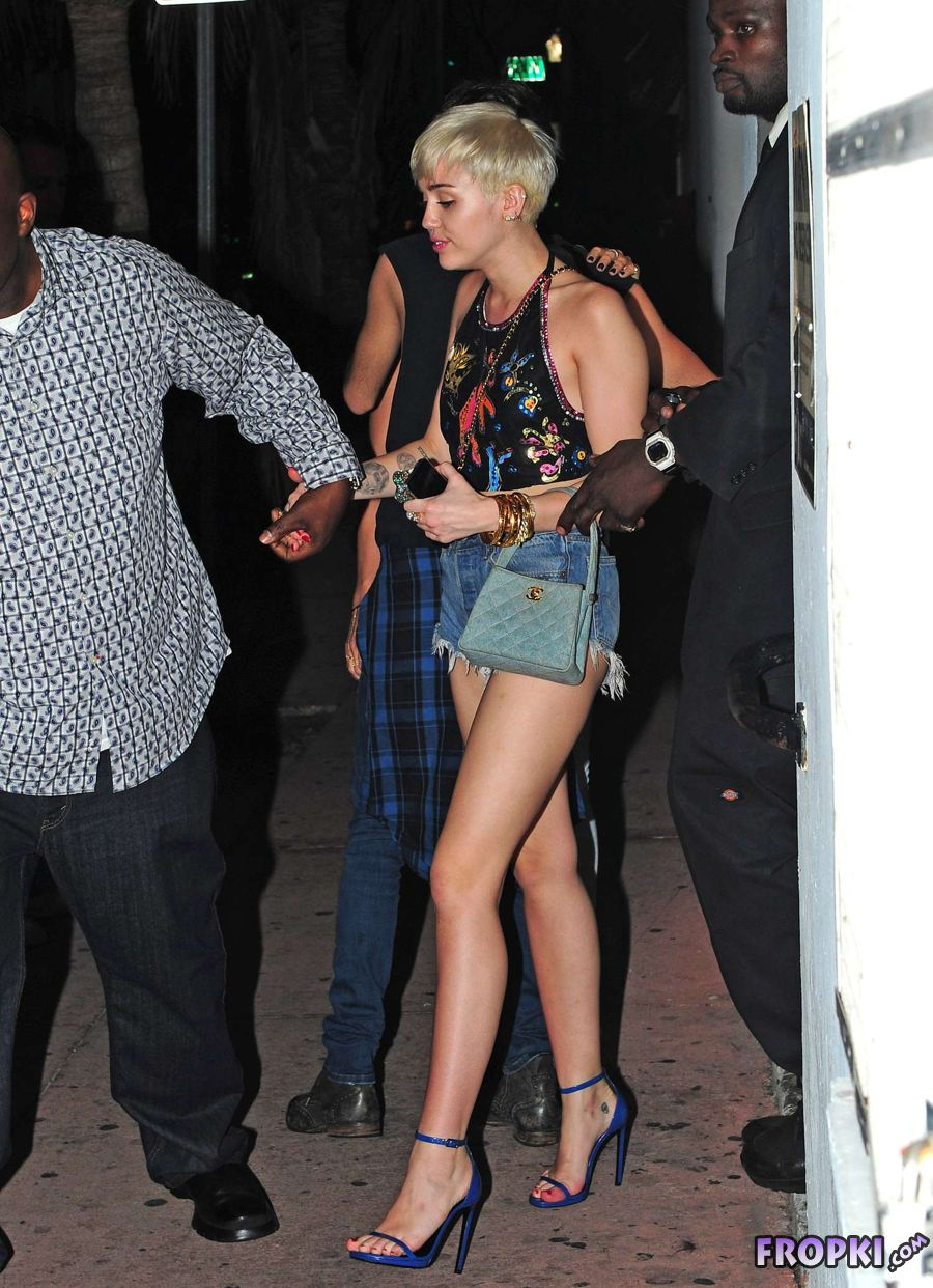 Miley Cyrus at Cameo Nightclub in Miami