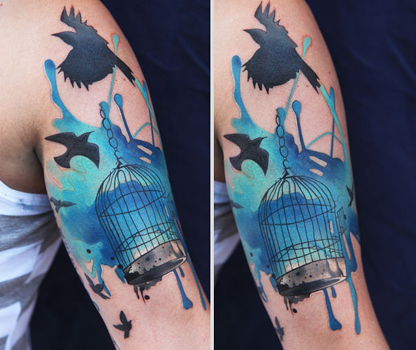 Examples Of Artistic Watercolor Tattoos