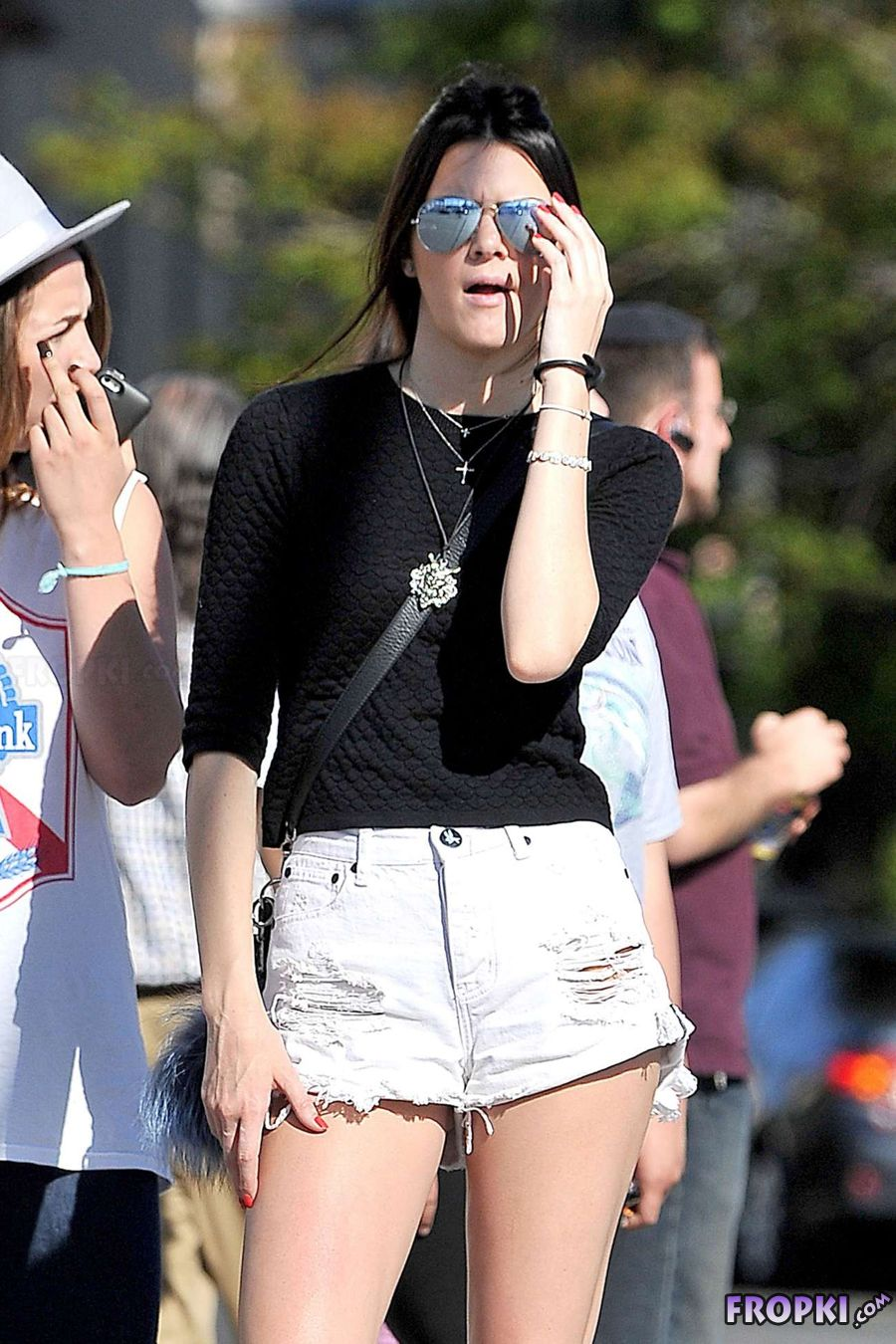 Kendall Jenner out in Hollywood in her Denims