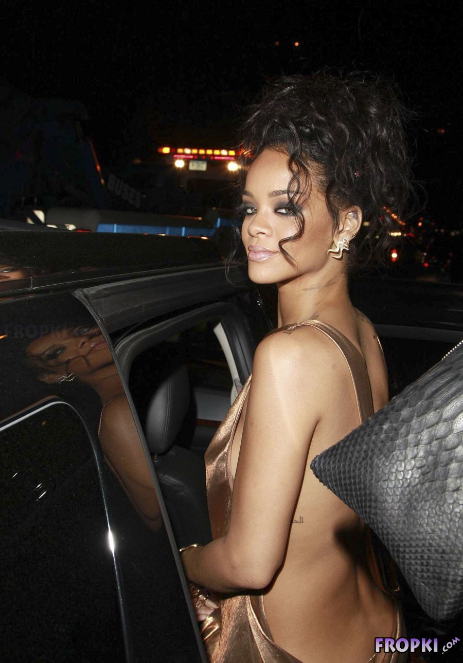 Rihanna - 2014 Met Ball After Party in NY