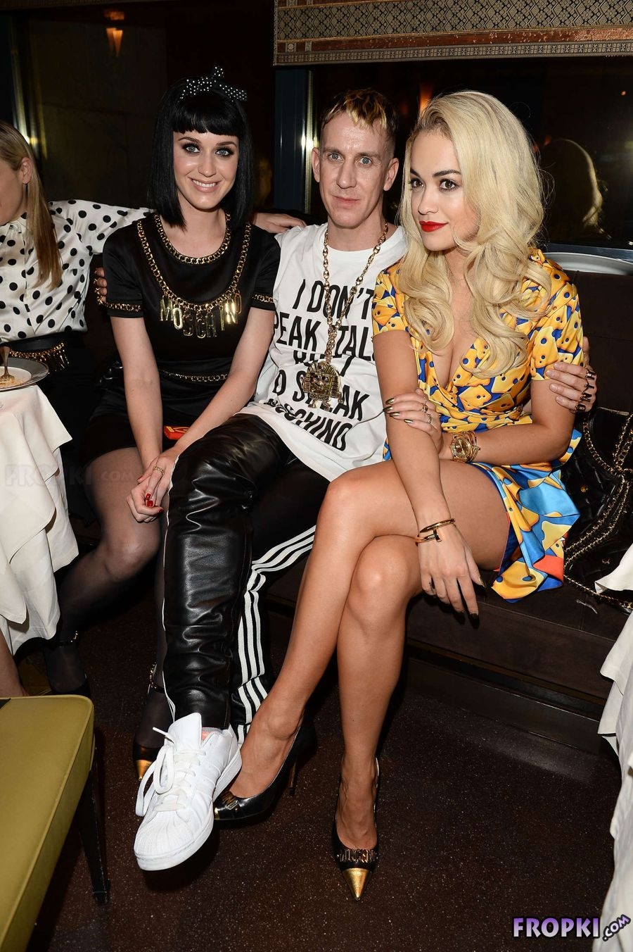 Katy Perry and Rita Ora at Fashion Week in Milan
