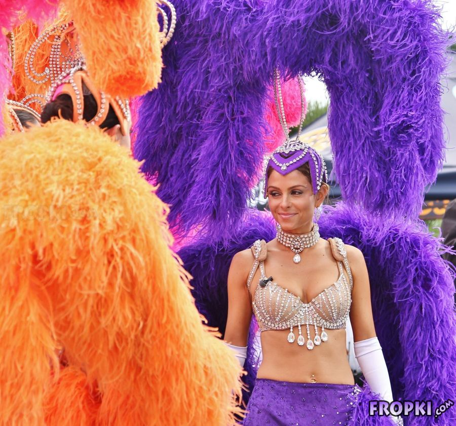 Maria Menounos in Carnival Costume in Universal City