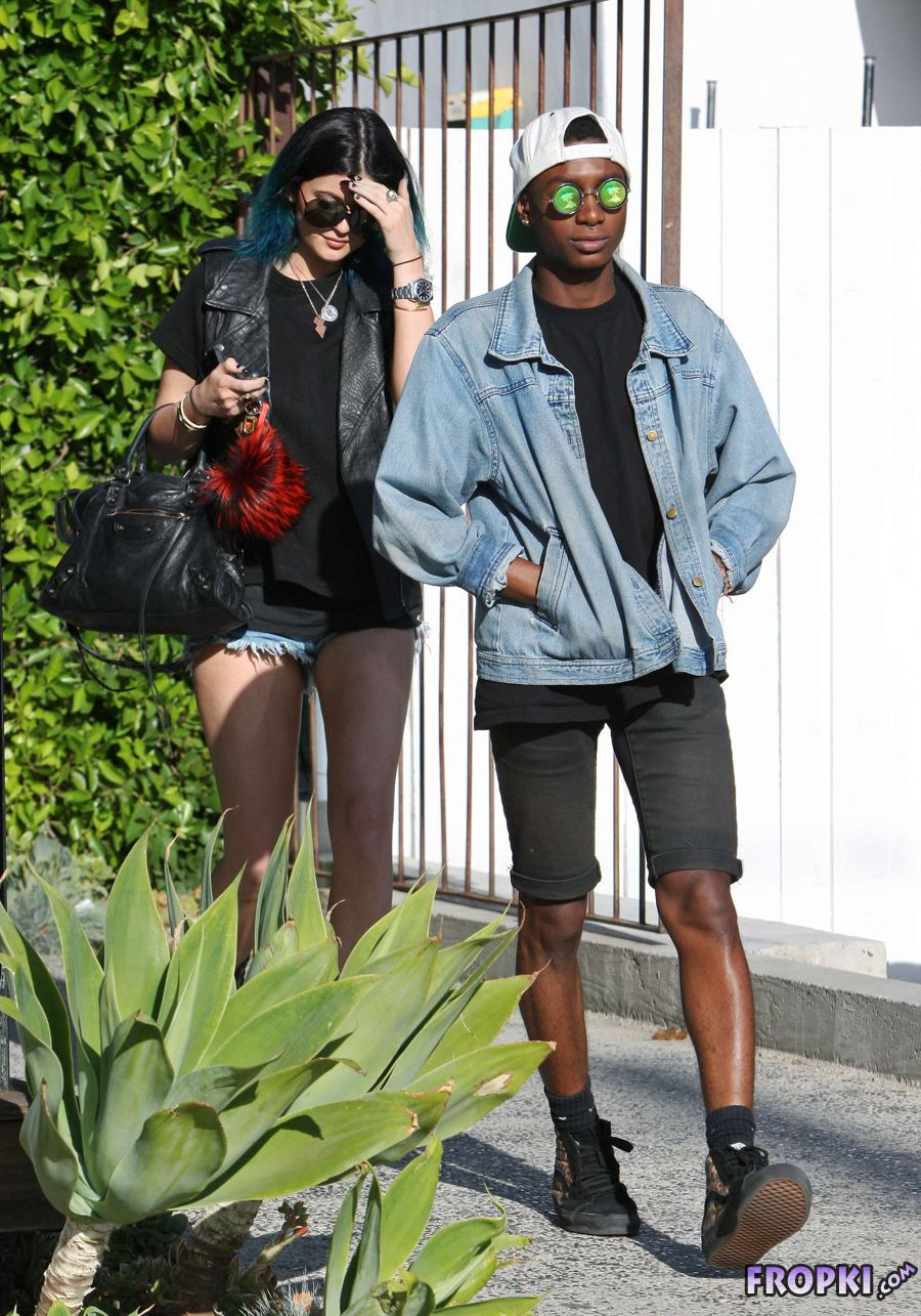 Kylie Jenner leaving the Andy LeCompte Salon