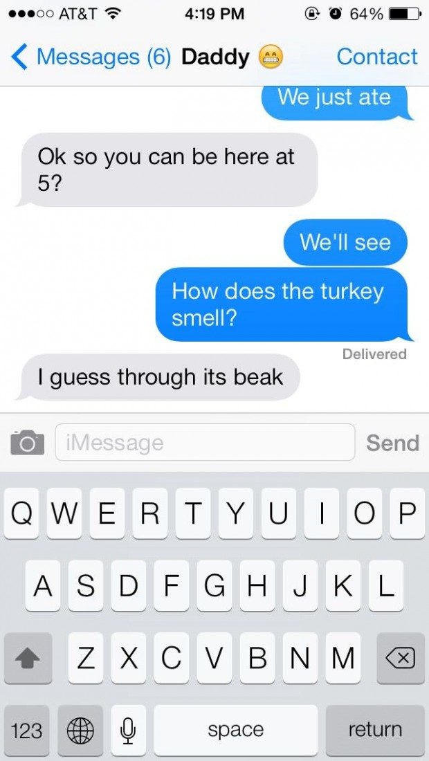 Texts Between Parents And Their Children