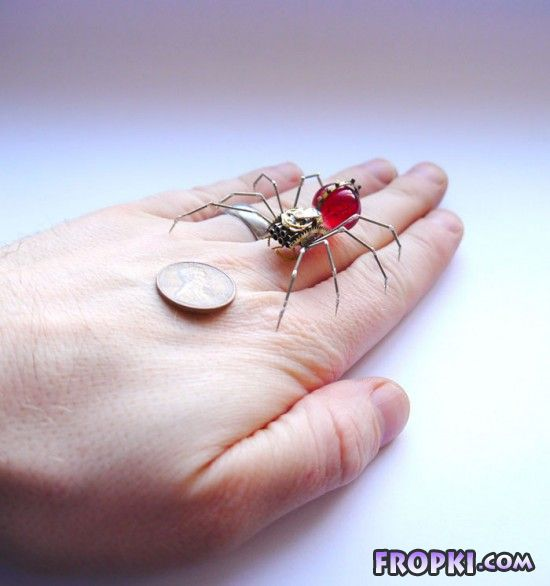 Mechanical Insects Made from Old Watch Parts