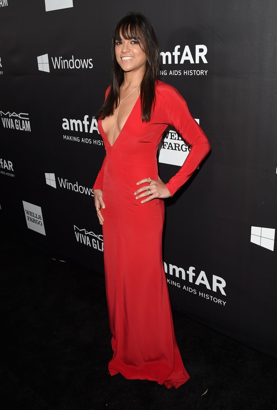 Michelle Rodriguez - Lady in Red's Fit Figure