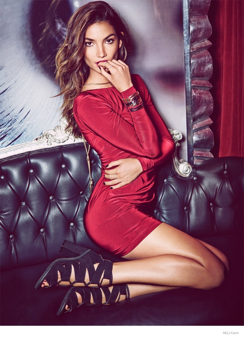 """Lily Aldridge for Nelly """"New Icons"""" Campaign 2015"""