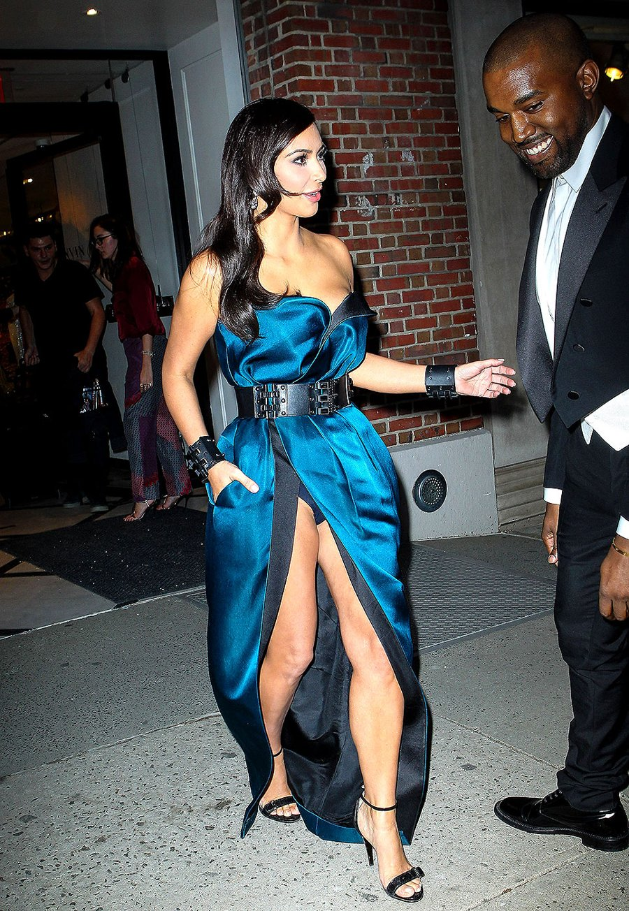 Celeb's Legs in Thigh high Split Dresses
