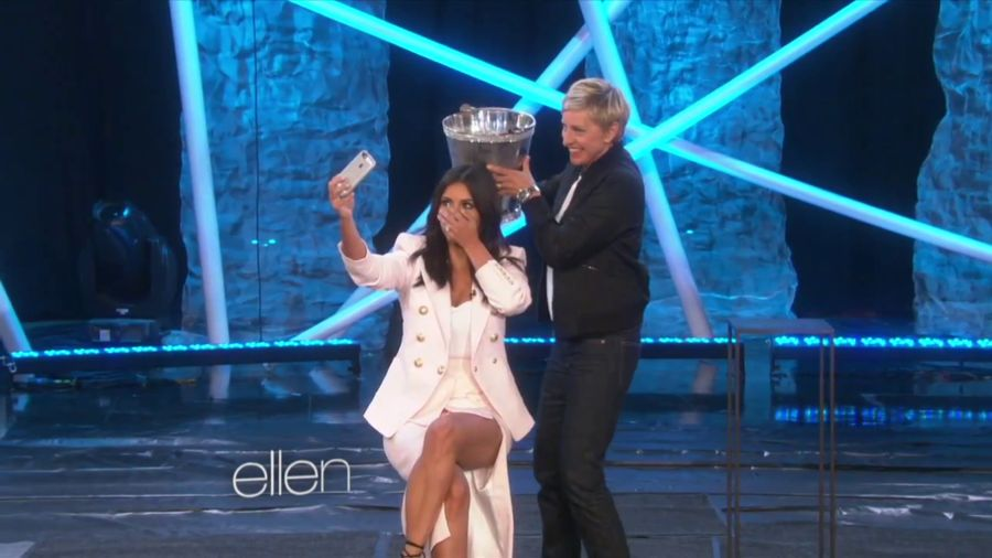 Kim Kardashian - Ice Bucket Challenge on Ellen