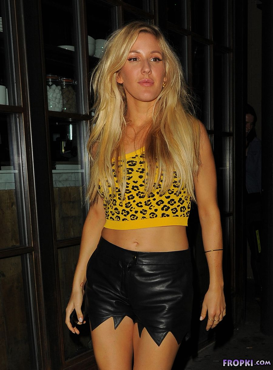 Ellie Goulding in Cave Woman Outfit
