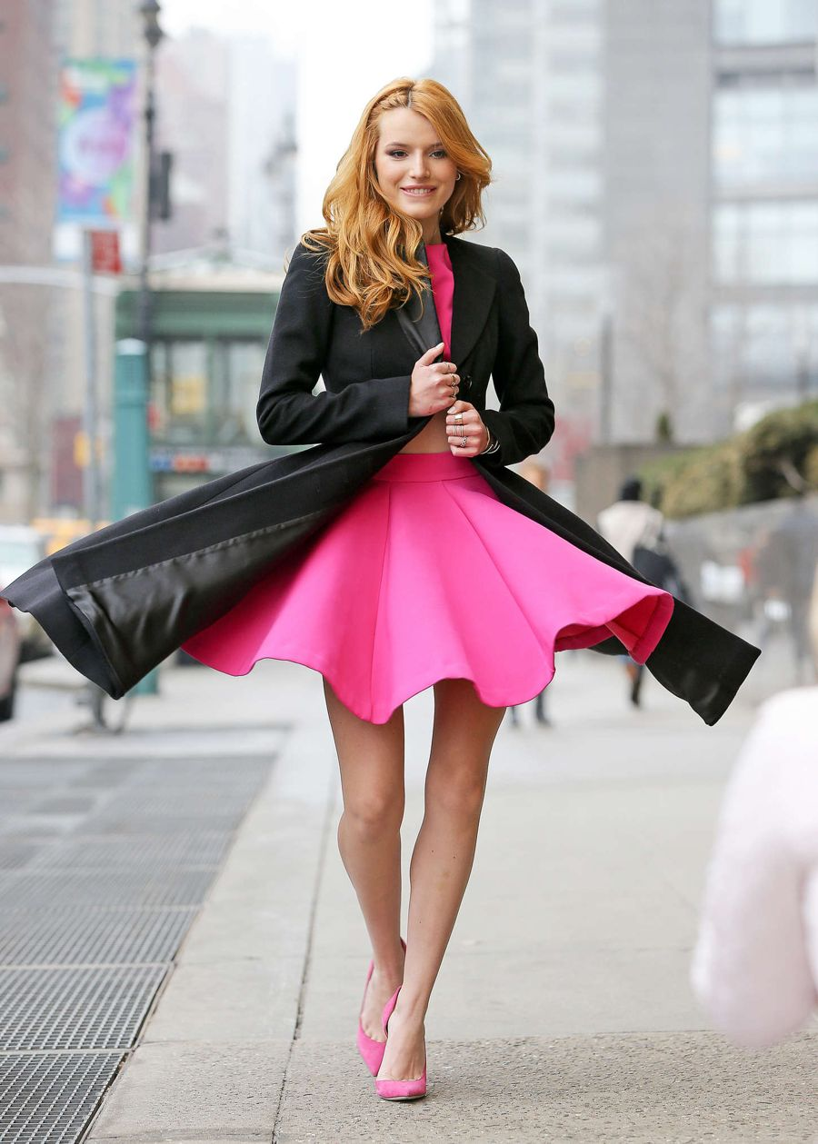 Bella Thorne - Leaving her hotel in NYC