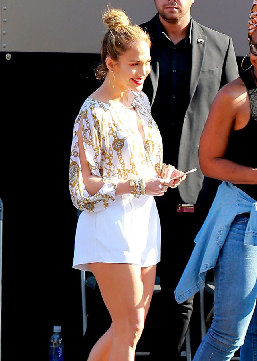 Jennifer Lopez 'American Idol' Taping in Hollywood