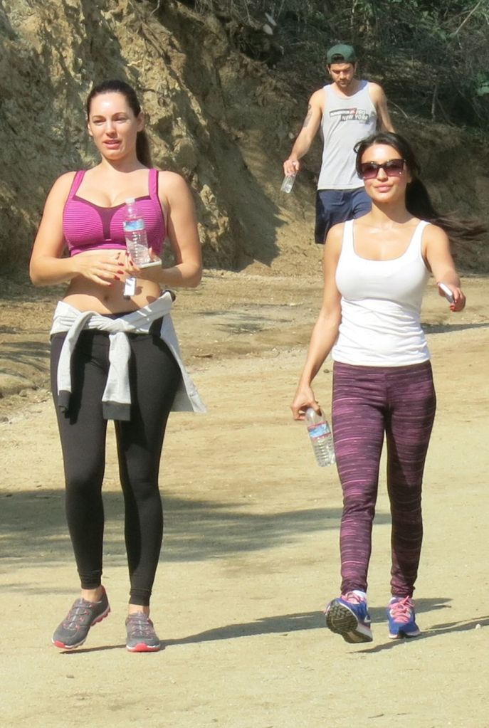 Kelly Brook in Yoga Pants and Sports Bra
