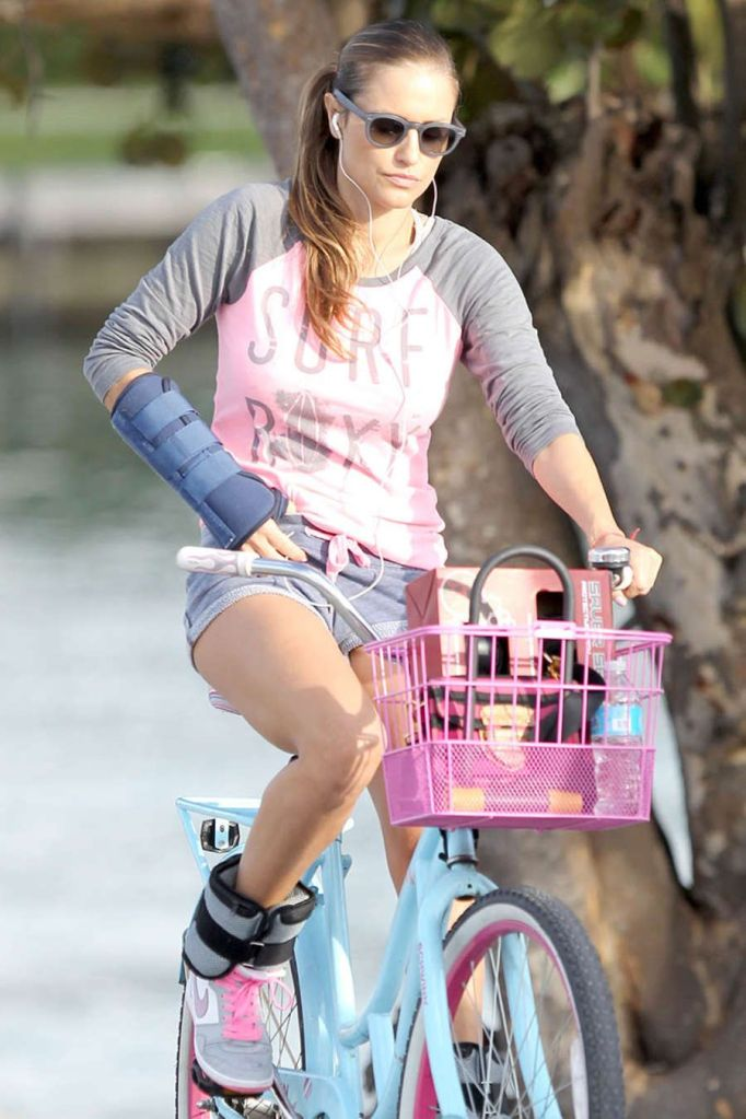 Lola Ponce Riding her Bicycle in Miami