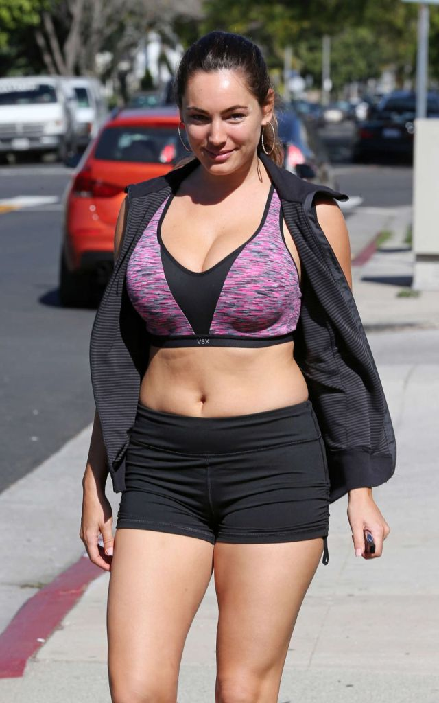 Kelly Brook Looking Fit and Healthy Leaving Workout Class