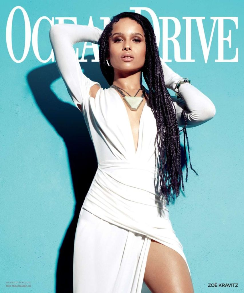 Zoe Kravitz Shows Some Leg on 'Ocean Drive' Cover