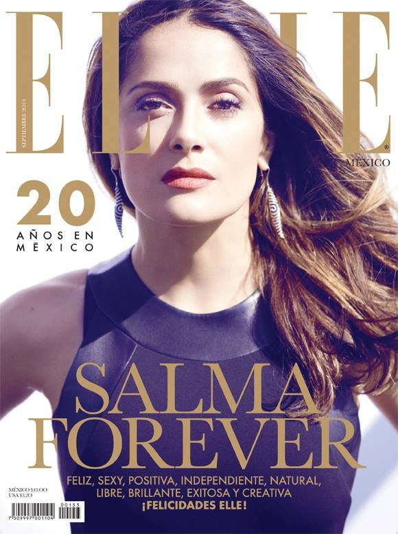 Salma Hayek Poses for Elle Mexico (Sep 2014)