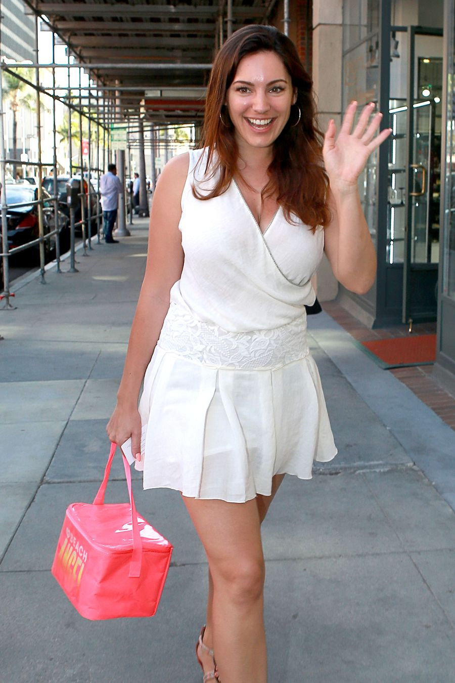 Kelly Brook in Sexy Dress in Beverly Hills