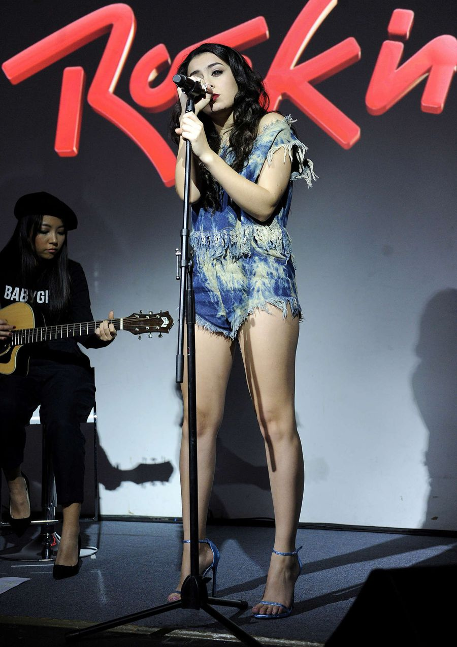 Charli XCX - Rock in Rio USA Press Conference in L.A.