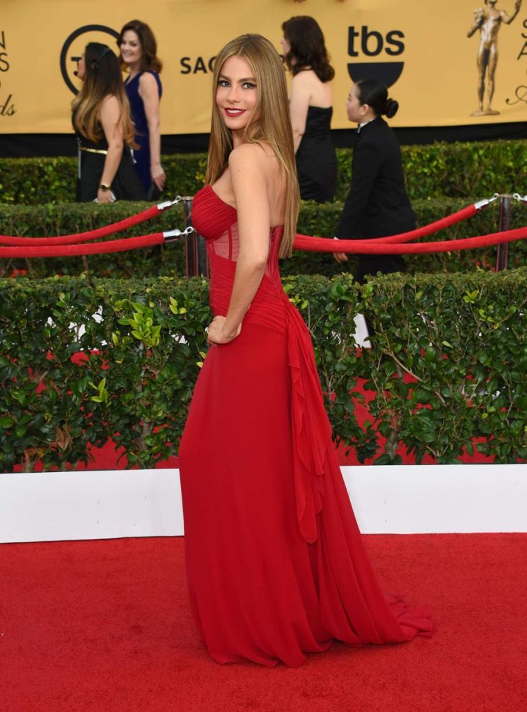 Sofia Vergara - Lady in Red at Annual SAG Awards