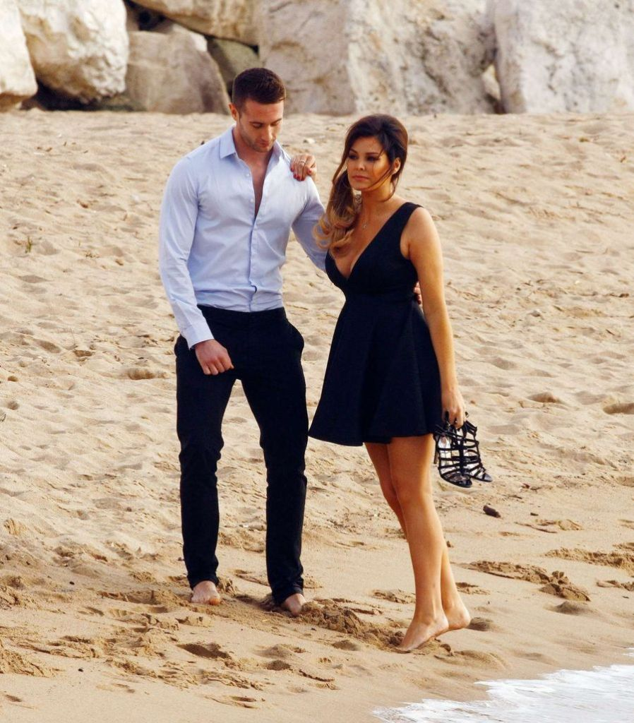 Jessica Wright on The Beach in Cannes