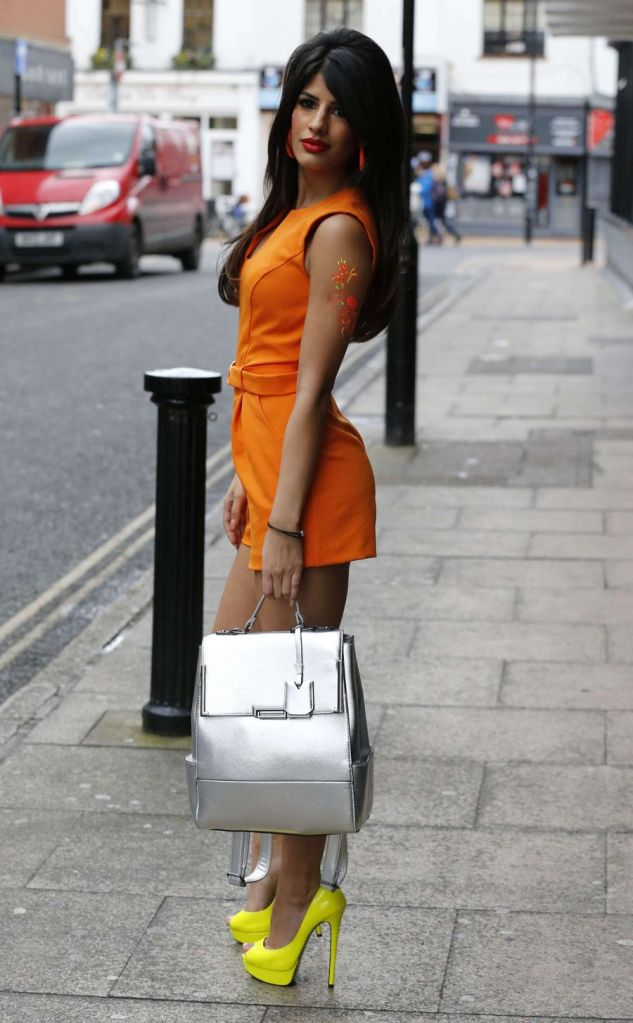 Jasmin Walia in Orange Jumpsuit out in Chelmsford
