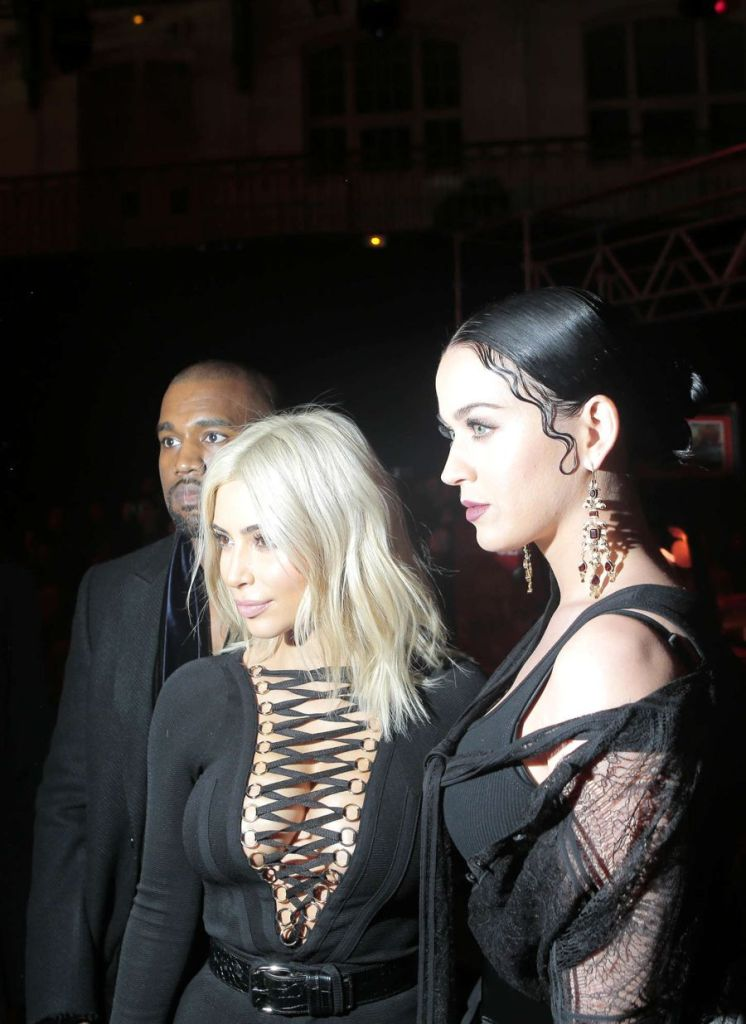 Katy Perry & Kim Kardashian - Givenchy Fashion Show